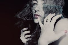 Young beautiful woman in the veil Royalty Free Stock Photography