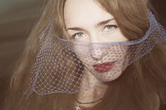 Young beautiful woman in the veil Stock Images