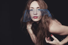 Young beautiful woman in the veil. Stock Photography