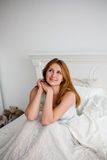 Young beautiful woman waking up fully rested Stock Images
