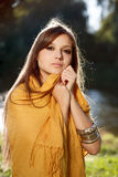 Young beautiful woman wear scarf Stock Photography