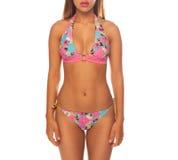 Young beautiful woman wearing bikini Royalty Free Stock Images