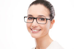 Young beautiful woman wearing glasses Stock Photos
