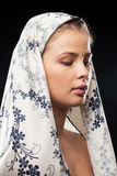 Young beautiful woman wearing a headscarf stock photography