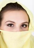 Young beautiful woman wearing hijab, stylish female portrait. Royalty Free Stock Photo