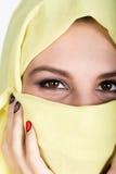 Young beautiful woman wearing hijab, stylish female portrait. Stock Images