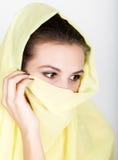 Young beautiful woman wearing hijab, stylish female portrait. Stock Photography