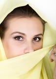 Young beautiful woman wearing hijab, stylish female portrait. Royalty Free Stock Photography