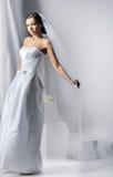 Young beautiful woman wearing luxurious wedding dress Royalty Free Stock Image