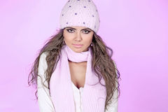 Young beautiful woman wearing winter Royalty Free Stock Photos