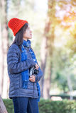 Young beautiful woman wearing winter clothing Royalty Free Stock Photography