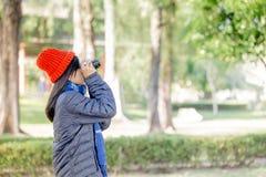 Young beautiful woman wearing winter clothing Stock Photo