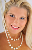 Young beautiful woman with white healthy teeth Royalty Free Stock Images