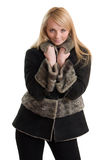 Young beautiful woman in winter clothes. Royalty Free Stock Image