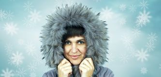Young beautiful woman in winter hat Royalty Free Stock Images