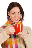 Young Beautiful Woman With A Cup Of Tea Royalty Free Stock Photos