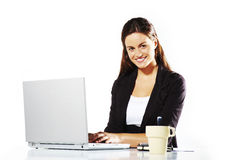 Young beautiful woman at work Royalty Free Stock Photography