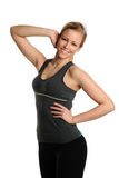 Young Beautiful woman working out Stock Photos