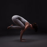 Young beautiful woman yoga posing Royalty Free Stock Photo