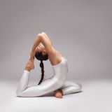 Young beautiful woman yoga posing. isolated Stock Images