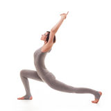 Young beautiful woman yoga posing. isolated Stock Photo
