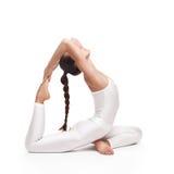 Young beautiful woman yoga posing. isolated Stock Image