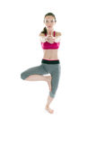 Young beautiful woman yoga posing Royalty Free Stock Image