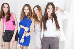 Young beautiful women. Happy women royalty free stock images