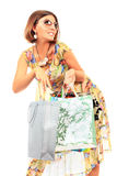 Young beautiful women with her shopping bags Royalty Free Stock Photo