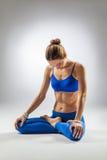 The yoga woman Stock Image