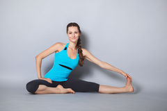 Young beautiful yoga posing Stock Image
