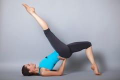Young beautiful yoga posing Royalty Free Stock Photography