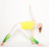 Young beautiful yoga posing Royalty Free Stock Photos