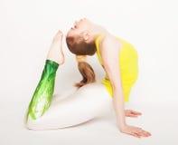 Young beautiful yoga posing Royalty Free Stock Photo