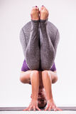 Young beautiful yoga woman posing Stock Photo