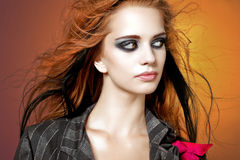 Young beautiful young woman. Royalty Free Stock Photos
