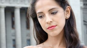 Young Female With Sad Face Royalty Free Stock Photo
