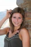 Young beauty. Beautiful brunette teenage girl, outside Stock Image