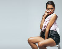 Young beauty african american woman with fashion make up Stock Images