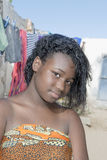 Young beauty in an African shanty town Stock Photos