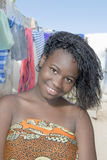 Young beauty in an African shanty town Royalty Free Stock Photos