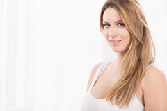 Young beauty blonde woman Royalty Free Stock Photography