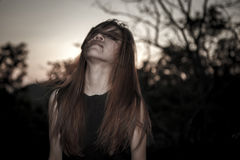 Young and beauty emo woman portraits Royalty Free Stock Photos