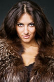 Young beauty in furs Stock Image