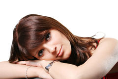 Young beauty girl. The attractive girl with beautiful eyes Stock Images