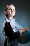 Young beauty girl in school clothing Royalty Free Stock Images