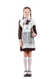 Young beauty girl in school clothing Royalty Free Stock Image