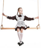 Young beauty girl in school clothing Stock Photo