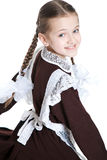 Young beauty girl in school clothing Stock Photos