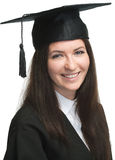 Young beauty graduate woman Stock Photography